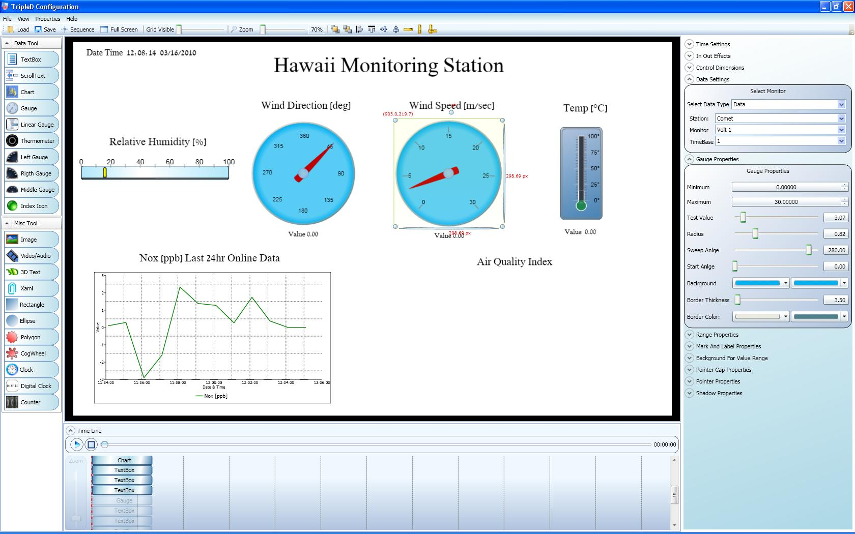 "Envitech Triple-D Example for a clip's capture while it is configured by the ""Public Display Configuration"" application"